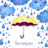 background for the text with an umbrella .