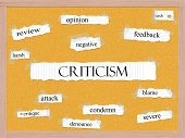 Criticism Corkboard Word Concept