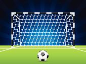 Soccer Ball And Gate With Net