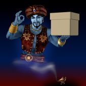 Genie With A Box.