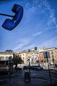 Freedom Square Where Is The Arch Of Elvira And Begins The Ascent To The Albaicin Quarter, Granada, S