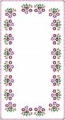 arrangement of style posies as pattern for tablecloth