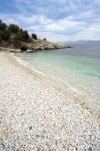 Pebbly Beach At Kassiopi, Corfu, Greece