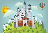 picture of iceberg  - Vector illustration of fairytale castle in the nature  - JPG