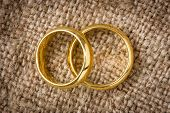Wedding Rings On The Burlap