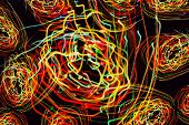 Abstract Pattern Of Motion Lights