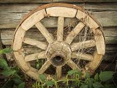 Old fashioned cart wheel