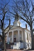 Historic courthouse in Old Town, Warrenton Virginia