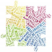 picture of autism  - Tag or word cloud Autism awareness related - JPG