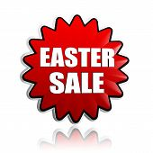 Easter Sale In Red Flower Banner