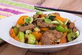 pork stir fry with vegetables