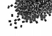 black plastic polymer granule