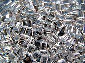 transparent plastic polymer granule