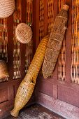 Ancient  Fish Trap Bamboo Equipment.