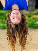 Beautiful Child Hanging Upside