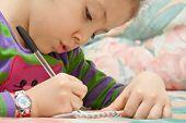 Little Girl Drawing