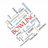 Bowling Word Cloud Concept Angled