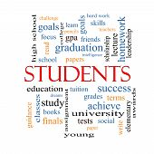 Students Word Cloud Concept