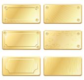 stock photo of nameplates  - Gold Metal Labels  - JPG