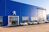 Samara, Russia - November 24, 2013: Office Of Official Dealer Peugeot . Peugeot Is A French Car Bran