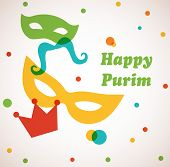 Jewish holiday Purim set. Vector illustration