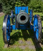 Blue Canon At Fortress Bourtange
