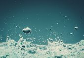 Water splashes on isolated background