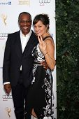 LOS ANGELES - AUG 23:  Joe Morton, Nora Chavooshian at the Television Academy's Perfomers Nominee Re