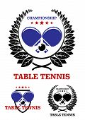 Table tennis emblems