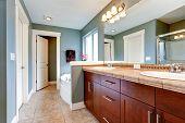 stock photo of mirror  - Bathroom interior - JPG