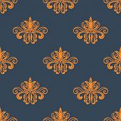 Retro orange seamless pattern
