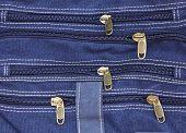 Zippers Of Blue Jean
