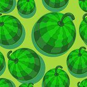 Watermelon seamless pattern in modern flat style