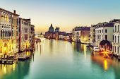 Early morning over Grand Canal in Venice, Italy