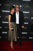 LOS ANGELES - AUG 23:  Lisa Rinna, Harry Hamlin at the 2014 Entertainment Weekly Pre-Emmy Party at F