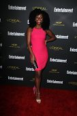LOS ANGELES - AUG 23:  Teyonah Parris at the 2014 Entertainment Weekly Pre-Emmy Party at Fig & Olive