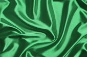 Abstract green silk background