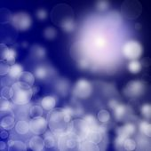 Abstract Blurry Lights On Blue  Background