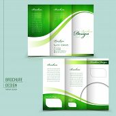Modern Style Tri-fold Brochure Template For Business