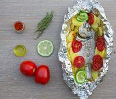 Baked Gilthead With Vegetables