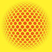 mosaico abstrato de fundo de bola