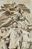 Arc De Triomphe In Paris. Tourist Destination.