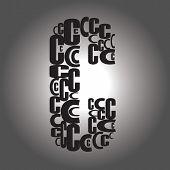 Letter C. Vector Illustration