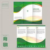 Tri-fold Green Template For Business Advertising Brochure