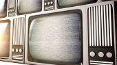Retro Television Equipment Noise Display Screen
