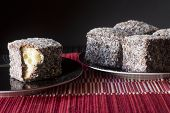 Chocolate Lamingtons - Selective Focus Horizontal