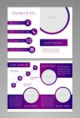 Business brochure template - purple and white design with editable diagram