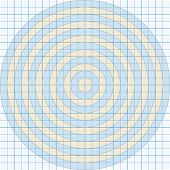Vector illustration of a millimeter paper with circles one