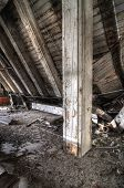 Collapsed Wood Floor