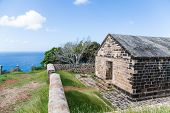 Old Brick Building On Hill In Antigua